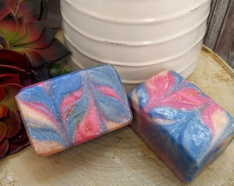 Sunset on the Solstice Soap | | cold process | artisan | handcrafted soap | fruity | swirl | neon | gift | mother's day
