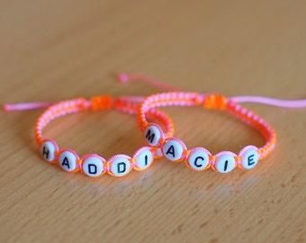 Twin baby bracelet / bracelets for twins / initial bracelet / identical twins / personalized bracelet / name bracelet / newborn / boy / girl