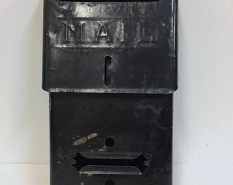 Vintage Metal Mailbox / Vintage Black Mail Box