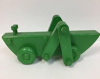 Vintage Handmade Wooden Grasshopper/ Vintage Wooden Toy/ Vintage WoodGrasshopper/ Folk Art Toy/ Folk Art Grasshopper