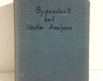 Vintage Canvas Notebook Binder/ Vintage Three Ring Binder/ Vintage Binder