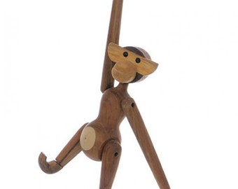 Carved Wooden Monkey Hanging Decor