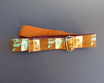 colorful fabric belts, belts made of fabric, belt to the move, fashion accessory / handmade