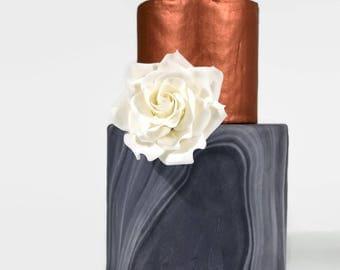 White Rose Sugar Flower Gumpaste Rose for Modern Wedding Cake Toppers, Cake Decor, DIY Weddings