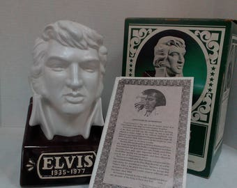 ELVIS' 'BUST' From 1977 McCormick Whiskey Decanter. Limited Edition Great Item! (Empty)