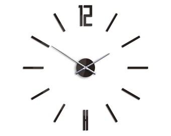 Large wall clock, Big wall clock, Wall clock 29.53, 75cm Carlo WENGE, Modern Wall Clock