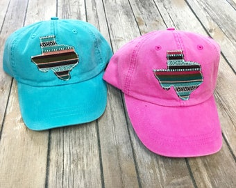 Texas Serape hat -Sweet Texas Treasures - texas hat, texan cap, texas girl hat, texas serape, serape blanket