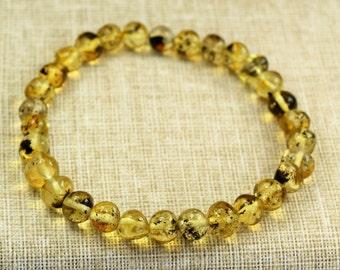 Amber bracelet, Baltic Amber, Amber bracelet for adults. Adult Baltic Amber Bracelet. High quality amber. Genuine Baltic Amber. Lemon colour