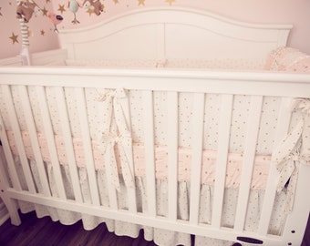 Registry Item for Ryan, Pink and Gold Nursery Bedding, Four Piece Set