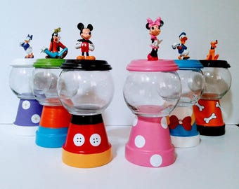 Mickey Mouse Clubhouse Gumball Centerpieces | Minnie Mouse | Donald Duck | Goofy | Daisy Duck | Pluto