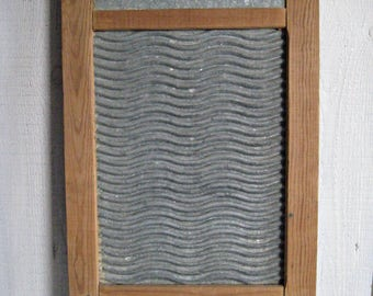 Vintage Washboard/ wood washboard/ laundry scrubber/ laundry room decor/Soviet vintage