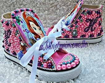 Sofia the first custom converse and FREE t shirt