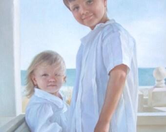 Children Custom Portrait-oil painting-custom portrait from photo-custom portrait painting-commission portrait-child portrait-Custom ETSY