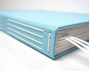 Large Journal (A4) with Classic Long-Stitched Spine. Perfect as a Sketchbook, Large Notebook, Wedding Planner, or Photo Album.
