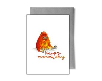 Cute Orangutan Mother's Day Card