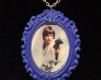 Star Wars Luke Skywalker cameo necklace