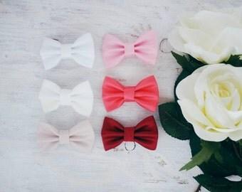 Satin Bow Clip Or Headband, Pick A Colour
