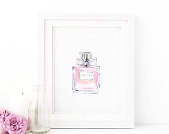 Miss Dior Watercolour Style Print