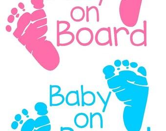 Baby on Board Car Window Decal