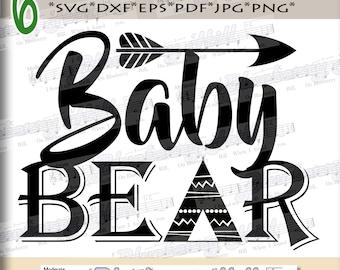 Baby bear SVG - Baby bear svg digital - Baby bear with Arrow - Baby bear clipart - Baby bear SVG file - DIY- Svg - Dxf- Eps - Png -Jpg - Pdf