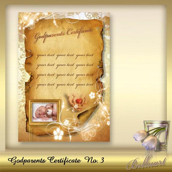 Printable god parents certificate no 3 god parents certificates printable god parents certificate no 3 god parents certificates template certificate of god parents presents for godparents din a4 from belluart on yadclub Gallery