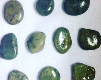 Green Jasper Stones and Agates.