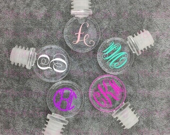 Personalized Acrylic Wine Stopper - Wine - Christmas Gift - Wedding Gift - Neighbor Gift - Wine Cork - Monogram Wine Stopper - Initial Wine