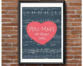 You Make My Heart Sing Poster