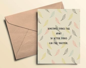 Falling Together Card with Envelope