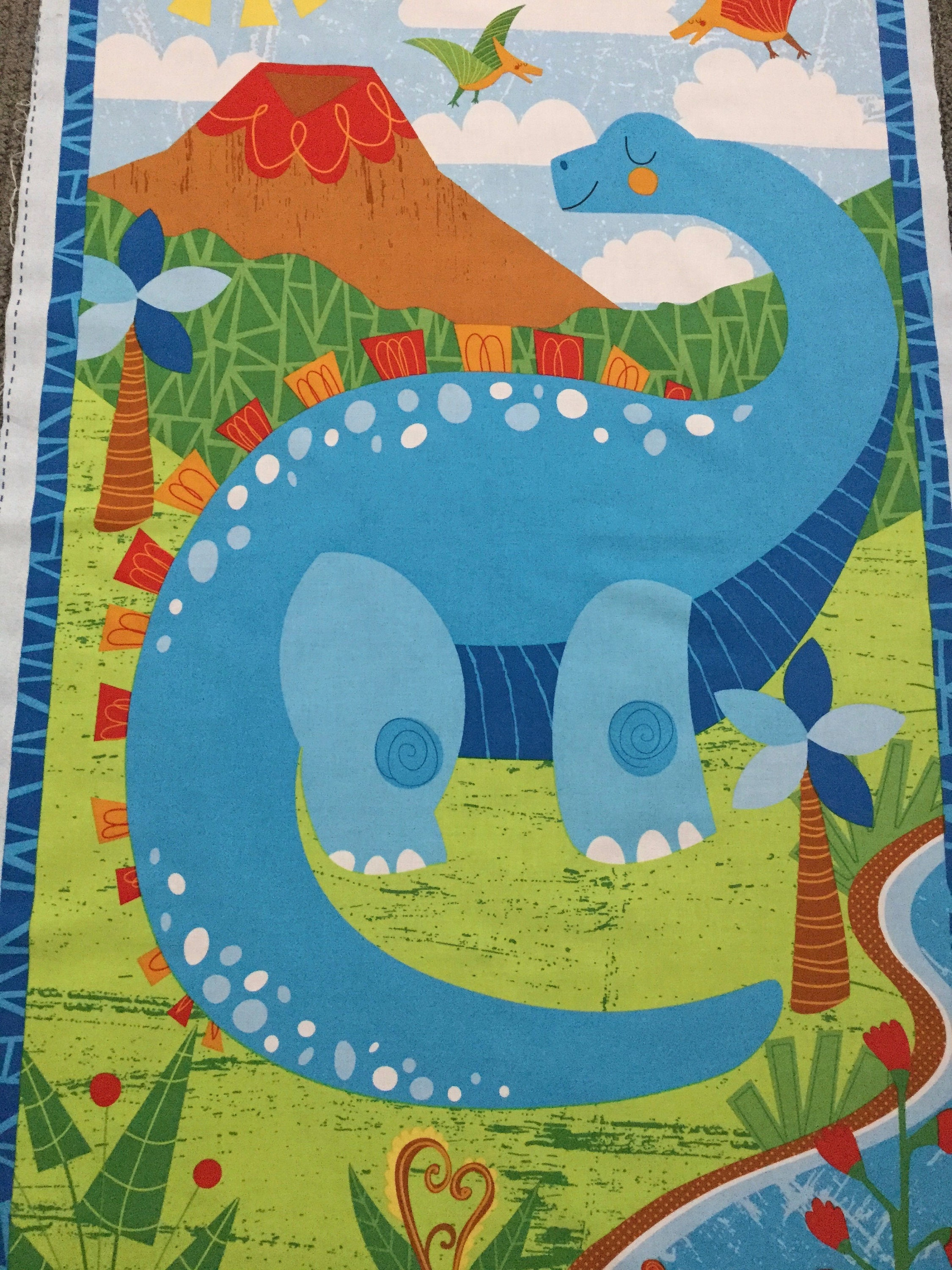 Boy fabric fabric panels for quilting dinosaur fabric for Boy quilt fabric