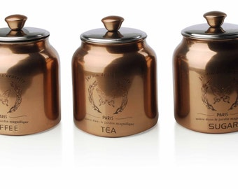 Boxes set of 3 Copper