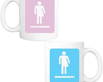 transgender bathroom symbol coffee mug