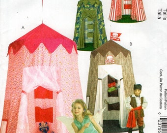 McCall's 5827 Free Us Ship Sewing Pattern Children's Toddler Pretend Play Canopy Tent Fairy Pirate Princess New Out of Print