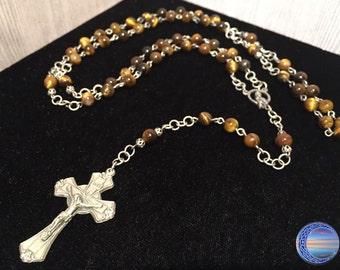 Catholic Semi-Precious Stone Rosary