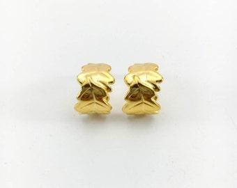 Loulou de la Falaise Foliage Gold-Plated Earrings