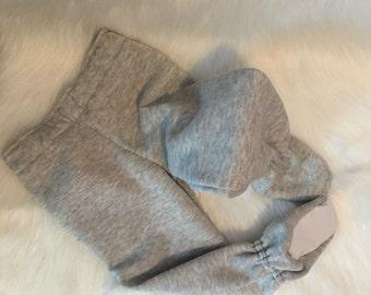SIZE 1T - 6 yrs. Fleece FOOTED PAJAMAS, made to order, children's pajamas, toddler pajama pants