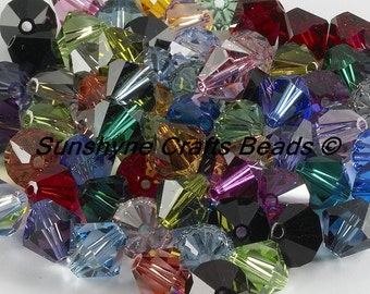 Swarovski Crystal Beads 144pcs 5301/5328 BIRTHSTONE CRYSTAL SET 6MM Faceted Mixed Bicone Bead