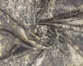 Brown Knit Printed Fabric | Stretch Knit Printed Fabric for Sewing