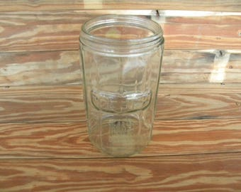 Antique Vintage HOOSIER Glass Coffee Jar
