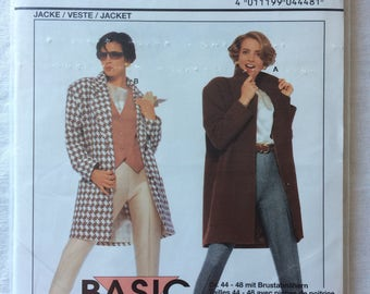 Burda 4448 UNCUT New Misses Size 10, 12, 14, 16, 18, 20, and 22 Coat and Jacket Pattern