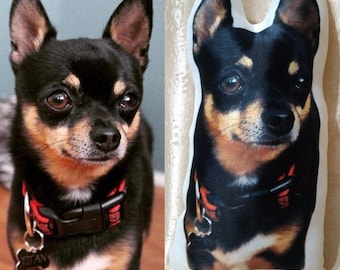 Custom pet photo pillow, personalized pillow, custom dog portrait, custom cat pillow, gift for children