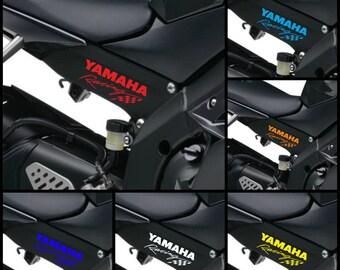2x YAMAHA RACING Decals Body Panel Stickers Graphics YZ-F Yzf R1 R6 R3 Fj Fjr Fz1 Fz10 Fz6r fz Xt - 2x 120mm