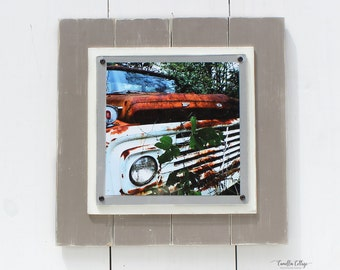 Wood Picture Frame - 14 by 14 - Picture Frame - Old Ford Truck