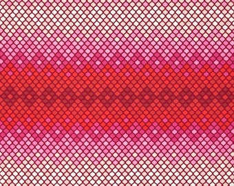 Tula Pink Cotton Woven Fabric 1/2 yd; Eden Mosaic in Magenta