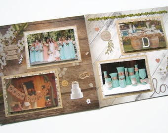 Barn Wedding Scrapbook Pages - Rustic Wedding Scrapbook Pages - Barn Wedding Scrapbook Layouts - Rustic Wedding Scrapbook Layouts- Wedding