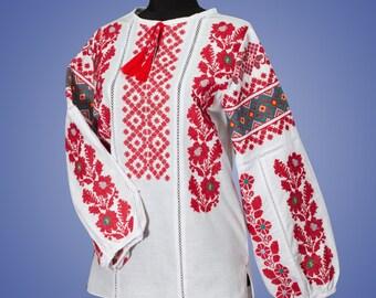 Ukrainian embroidery, embroidered blouse, XS - 4XL, Ukraine