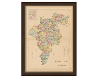County Carlow - Memorial Atlas of Ireland 1901
