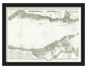 0543-Long Island Sound-Middle Sheet 1855 Nautical Chart