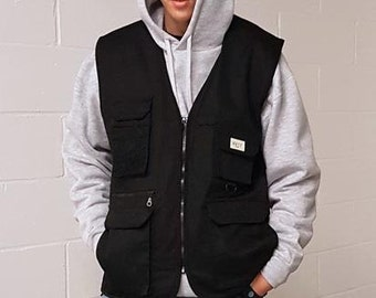 Heavy Duty Utility Vest Black