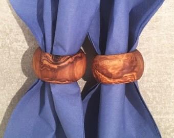 Set of 2 Napkin Ring Olive Wood, bohemian Napkin Holder , Rustic Napkin Ring, Wooden Napkin Ring